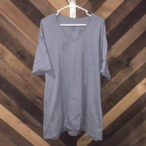 Fruit of the loom short sleeve tee grey/pale blue